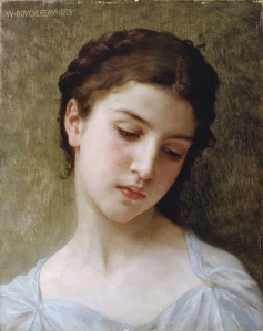 william-adolphe_bouguereau -head of a young girl